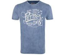 T-Shirt rauchblau / weiß