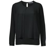 Bluse im Lagen-Look schwarz