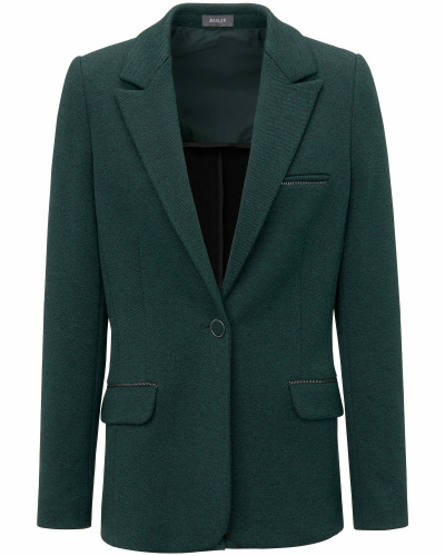 Jersey-Blazer aus exquisitem Jersey grün