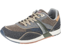 'Rabari' Sneakers dunkelblau / hellbraun / grau