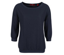 Blusenshirt aus Crêpe dunkelblau