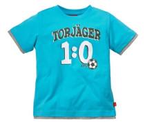 T-Shirt mit Fußballmotiv blau