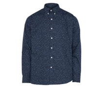 Slim Fit Hemd dunkelblau