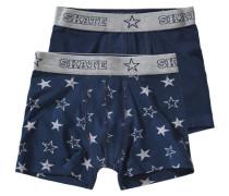 Doppelpack Boxershorts Sterne blau / marine / silber
