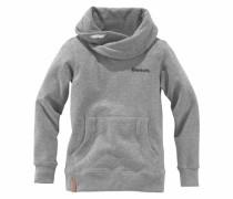 Sweatshirt mit Schalkragen grau