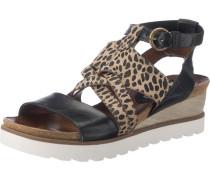 Sandaletten braun / schwarz