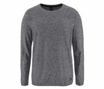 Rundhalspullover grau / schwarz