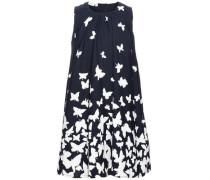 Kleid 'nitkanny' ultramarinblau / weiß