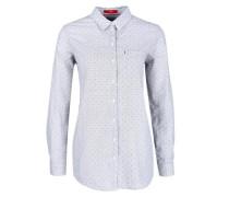 Gemusterte Bluse mit High-Low-Saum blau / rot / weiß