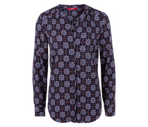 Luftige Bluse mit Allover-Print mischfarben
