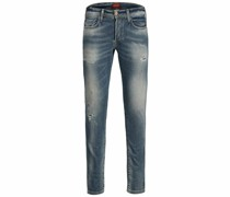 Glenn Fox BL 935 Indigo Knit Slim Fit Jeans