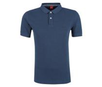 Poloshirt aus Baumwollpiqué blau