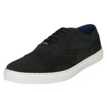 Sneaker mit perforierten Besätzen grau
