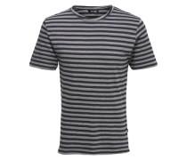 Gestreiftes T-Shirt blau / grau