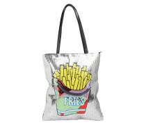 Shopper-Tasche 'Fries' silber