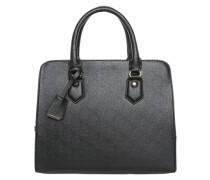 Handtasche aus Kunstleder schwarz