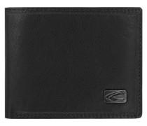'London' Mini Geldbörse Leder 11 cm schwarz
