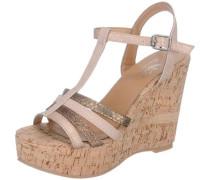 Sandaletten gold / rosa