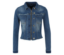 Kurze Jeansjacke 'Customized Tracker' blau