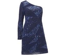 Paillettenkleid blau