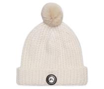 Fell-Wollmix-Mütze weiß