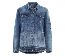 Boyfriend-Jeansjacke 'Edge' blue denim