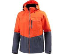 'Edward' Funktionsjacke dunkelblau / orange