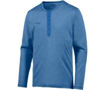 Henley Wool Funktionsshirt blau