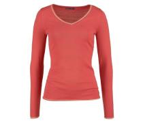 V-Ausschnitt-Pullover hellrot