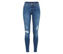 'pcfive Delly B159' Skinny Jeans blau / blue denim