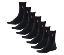 Basic-Socken (7 Paar) mit extrahohem Baumwollanteil grau / schwarz