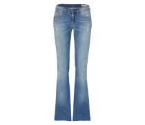 'Lowleeh' Jeans Flared Leg 681L blue denim