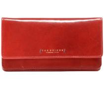 Passpartout Donna Geldbörse Leder 18 cm rot