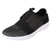 Sneaker mit Schnellschnürung schwarz / weiß