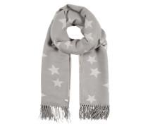 Schal mit Sternen-Print grau / weiß