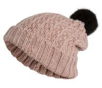 Gestrickte Mütze pink