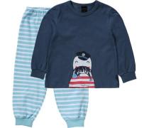 Schlafanzug blau / hellblau
