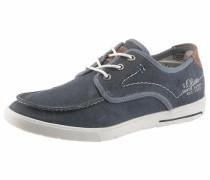 Sneaker blue denim / braun / weiß