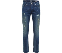 Regular fit Jeans Weft blau