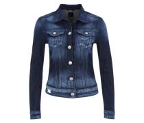 Jeansjacke mit Waschung blau