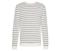 Sweatshirt mit Oberflächen-Struktur 'Campi' navy / weiß