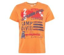 T-Shirt orange / dunkelblau
