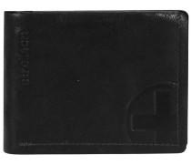 'Edwyn' Geldbörse Leder 12 cm schwarz