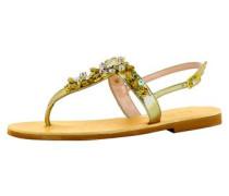 Damen Sandale gold