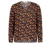 Casual-Bluse mit Muster schwarz / grau