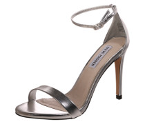 Stiletto-Sandale in Lackoptik 'Stecy' silber