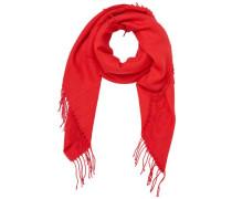 Quadratischer Schal rot