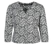 Bedruckte Jersey-Bluse schwarz / weiß