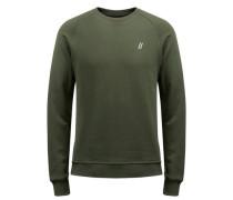 Rundhalsausschnitt-Sweatshirt grün
