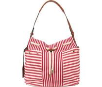 Handtasche rot / weiß